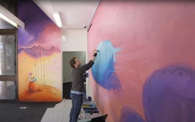 'Fishing for Dreams' mural video