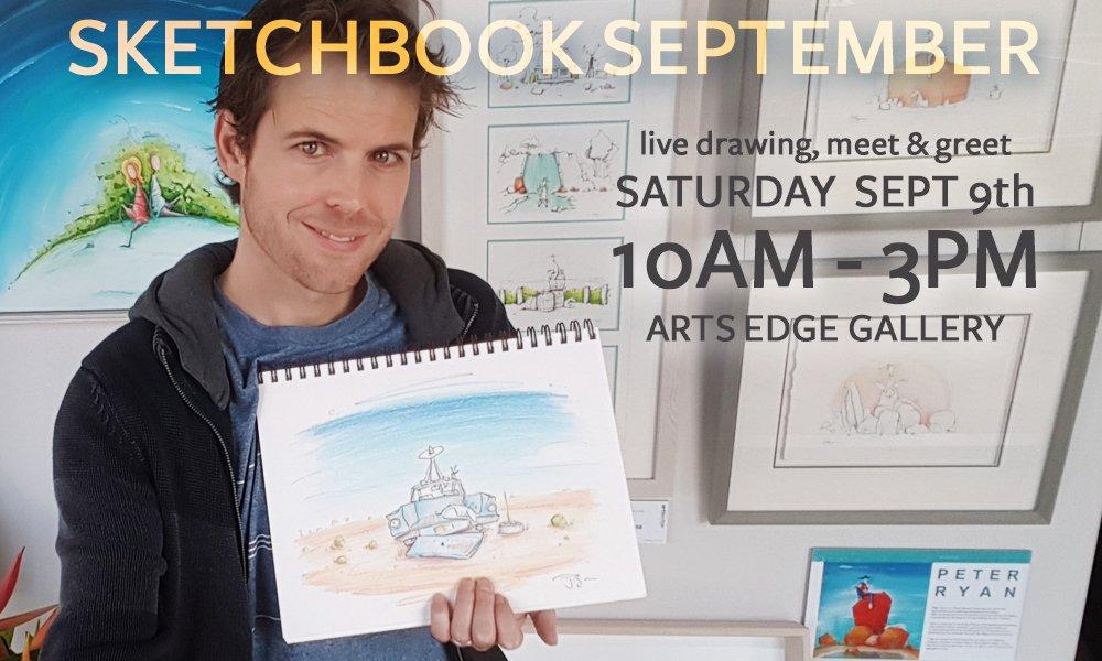 Peter Ryan Sketching Live in September